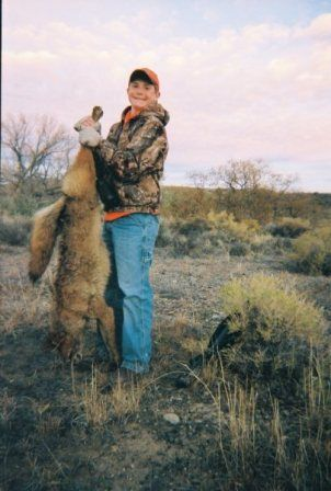 Chuck's son Conner with another coyote!